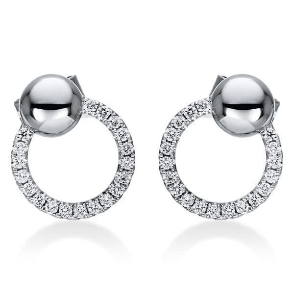 18 kt fehérarany steckeres 38 gyémánttal 2J009W8-1