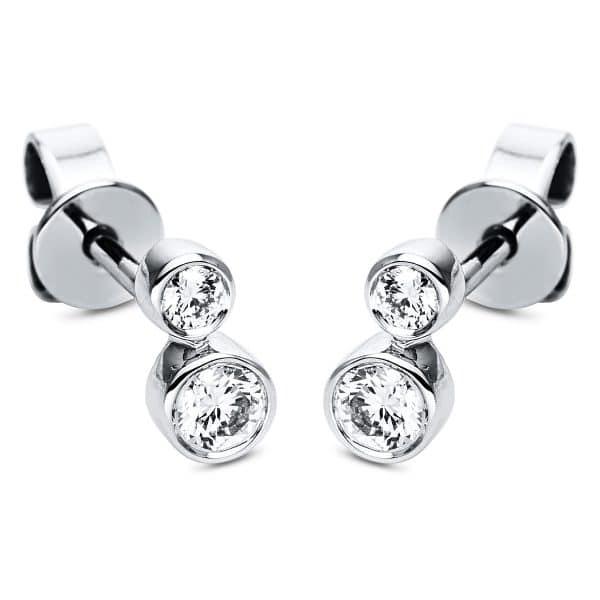 18 kt fehérarany steckeres 4 gyémánttal 2H813W8-2