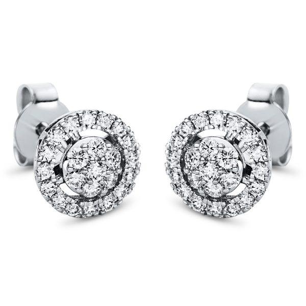 18 kt fehérarany steckeres 46 gyémánttal 2I980W8-3