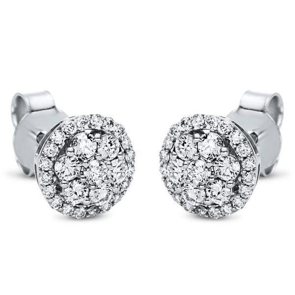18 kt fehérarany steckeres 54 gyémánttal 2I989W8-3