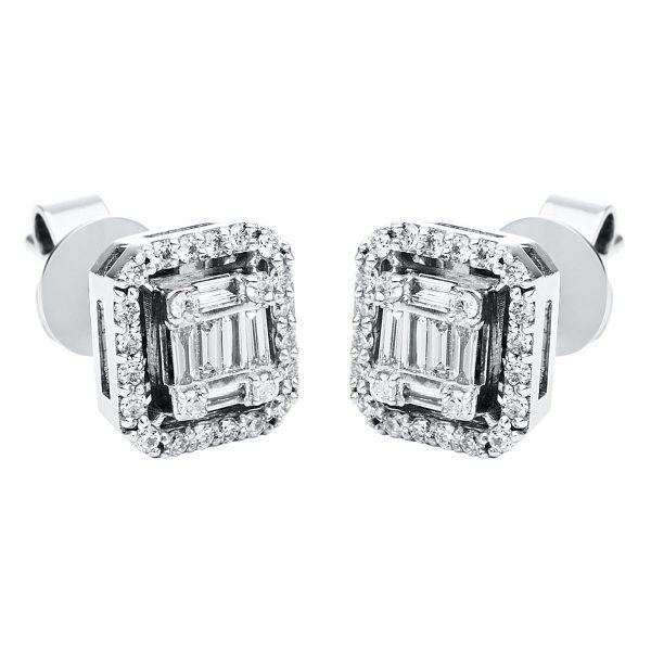 18 kt fehérarany steckeres 62 gyémánttal 2J292W8-1