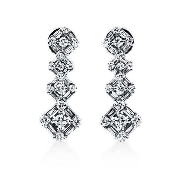 18 kt fehérarany steckeres 66 gyémánttal 2E010W8-1