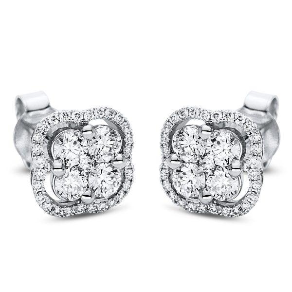 18 kt fehérarany steckeres 66 gyémánttal 2I990W8-2