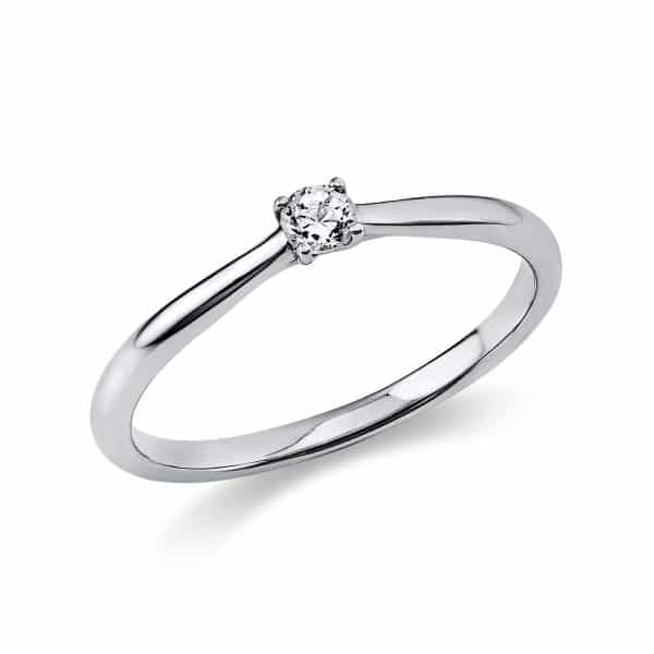18 kt fehérarany szoliter 1 gyémánttal 1A287W850-4
