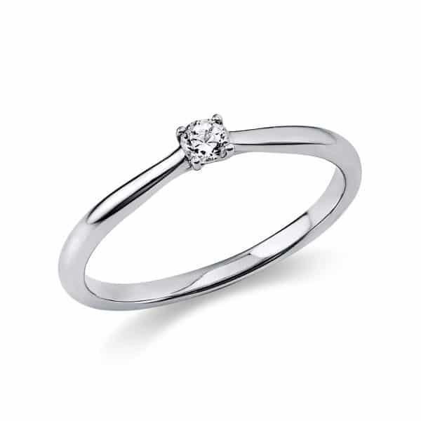 18 kt fehérarany szoliter 1 gyémánttal 1A287W851-3