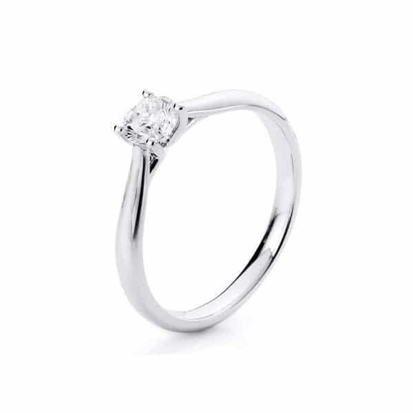 18 kt fehérarany szoliter 1 gyémánttal 1A291W854-19