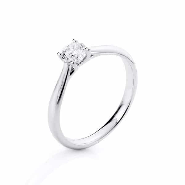 18 kt fehérarany szoliter 1 gyémánttal 1A293W854-14