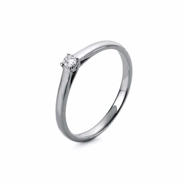18 kt fehérarany szoliter 1 gyémánttal 1A439W854-13