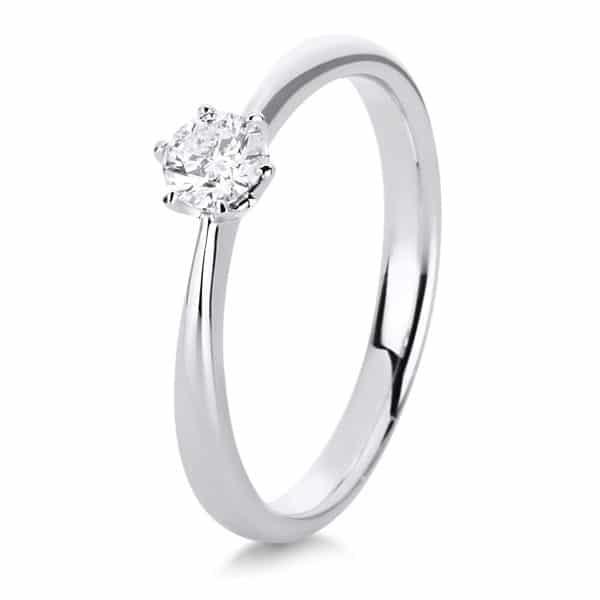 18 kt fehérarany szoliter 1 gyémánttal 1C481W852-3