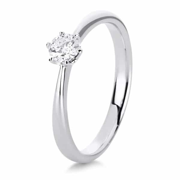 18 kt fehérarany szoliter 1 gyémánttal 1C481W854-4