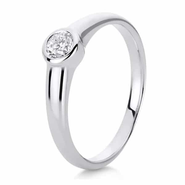 18 kt fehérarany szoliter 1 gyémánttal 1C512W850-1