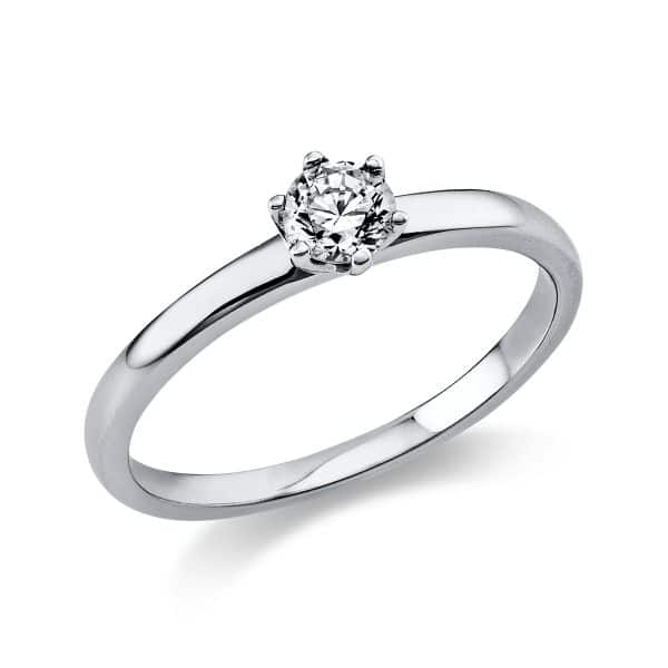 18 kt fehérarany szoliter 1 gyémánttal 1O324W856-3
