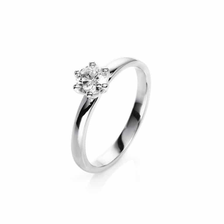 18 kt fehérarany szoliter 1 gyémánttal 1P114W854-4