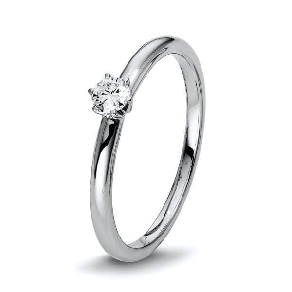 18 kt fehérarany szoliter 1 gyémánttal 1Q401W855-1