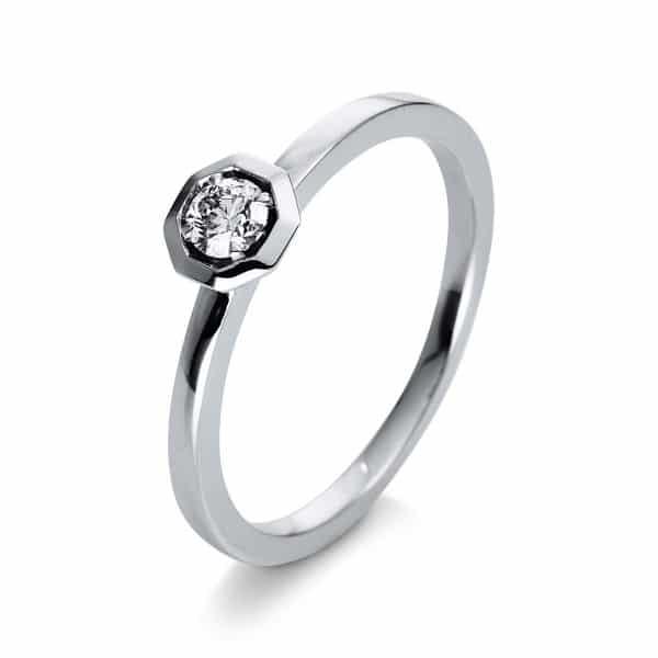 18 kt fehérarany szoliter 1 gyémánttal 1Q415W855-2