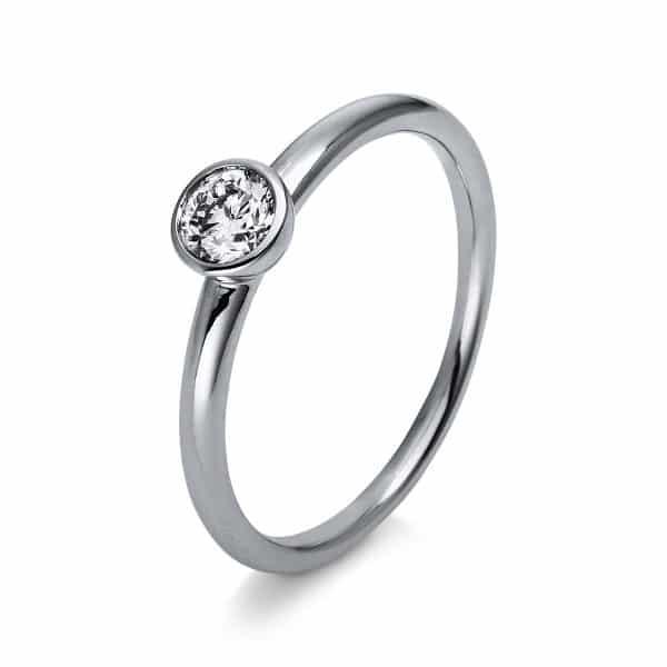 18 kt fehérarany szoliter 1 gyémánttal 1R884W853-1