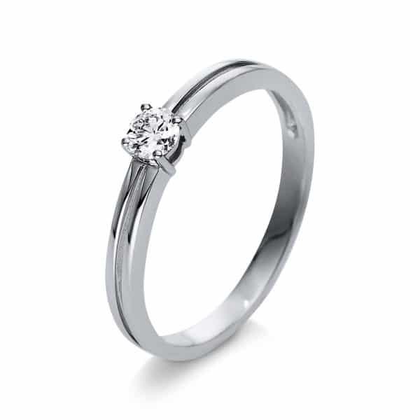 18 kt fehérarany szoliter 1 gyémánttal 1S306W855-1