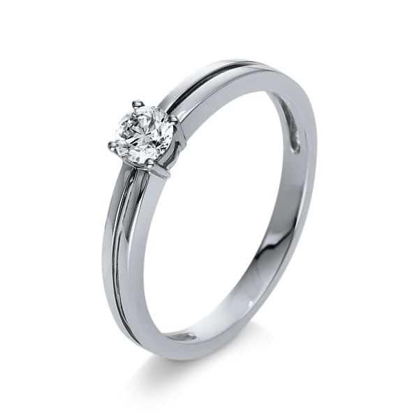 18 kt fehérarany szoliter 1 gyémánttal 1S314W855-1