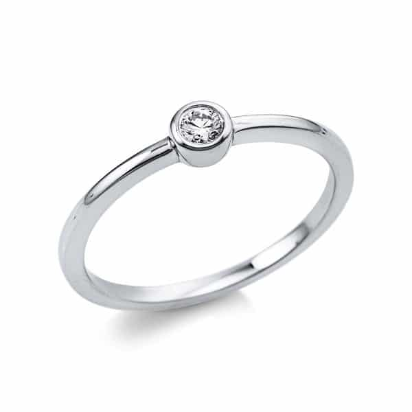 18 kt fehérarany szoliter 1 gyémánttal 1V363W854-1