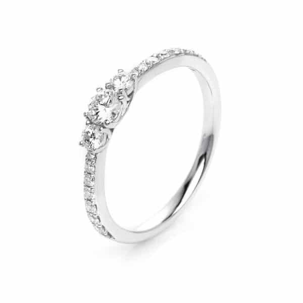 18 kt fehérarany szoliter oldalkövekkel 19 gyémánttal 1K434W854-5