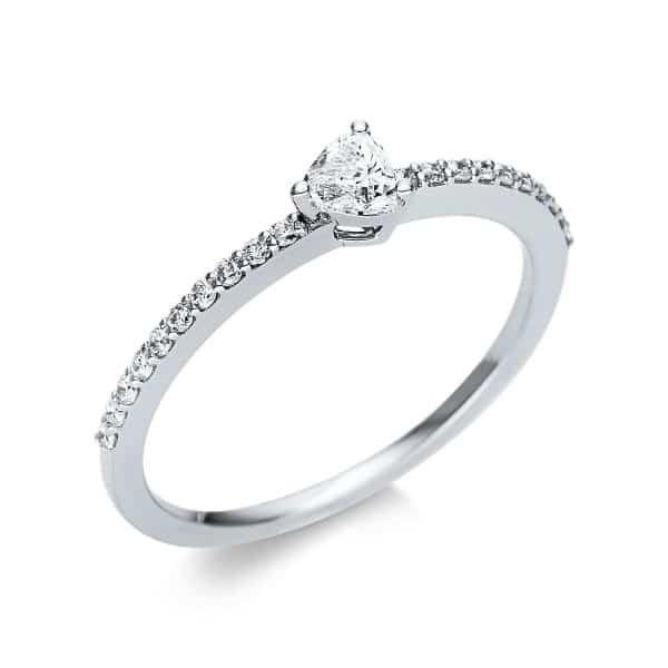 18 kt fehérarany szoliter oldalkövekkel 21 gyémánttal 1U612W854-7
