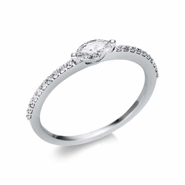 18 kt fehérarany szoliter oldalkövekkel 21 gyémánttal 1U615W854-2