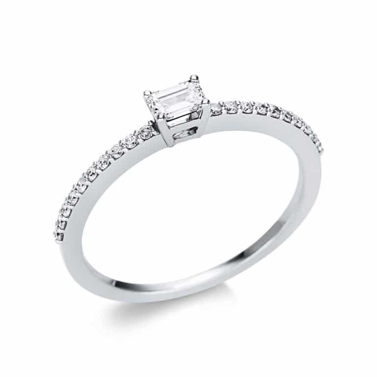 18 kt fehérarany szoliter oldalkövekkel 21 gyémánttal 1U620W854-6