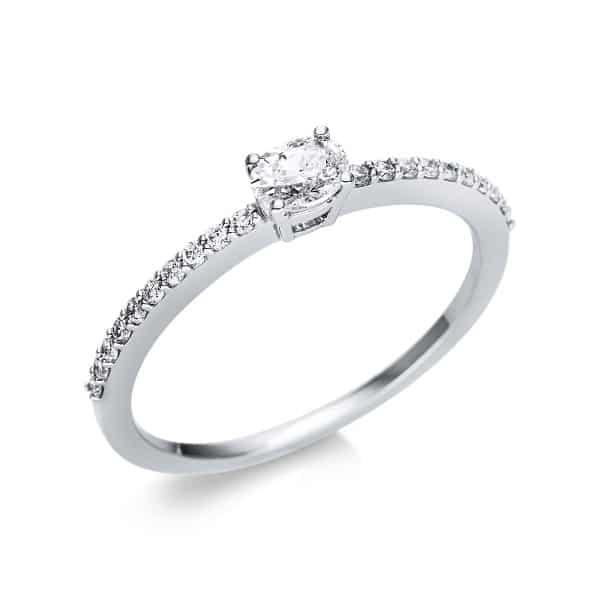 18 kt fehérarany szoliter oldalkövekkel 21 gyémánttal 1U630W854-8