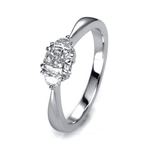 18 kt fehérarany szoliter oldalkövekkel 3 gyémánttal 1A158W854-3