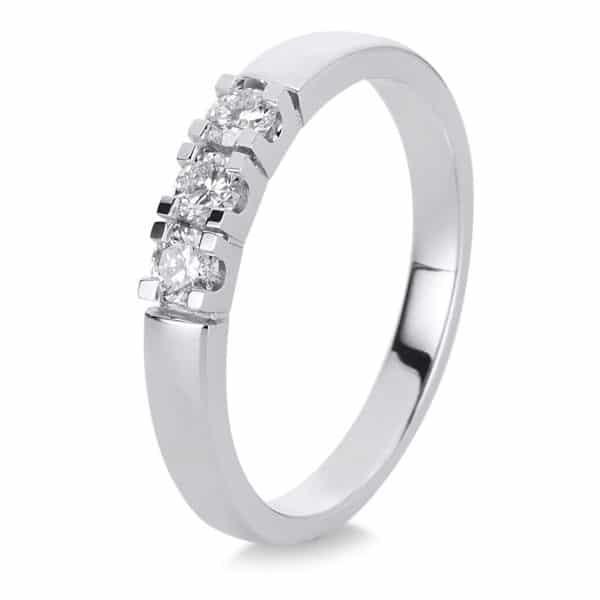 18 kt fehérarany szoliter oldalkövekkel 3 gyémánttal 1A341W855-2