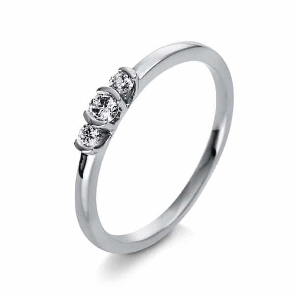 18 kt fehérarany szoliter oldalkövekkel 3 gyémánttal 1Q435W853-1