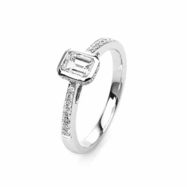 18 kt fehérarany szoliter oldalkövekkel 33 gyémánttal 1H660W854-2