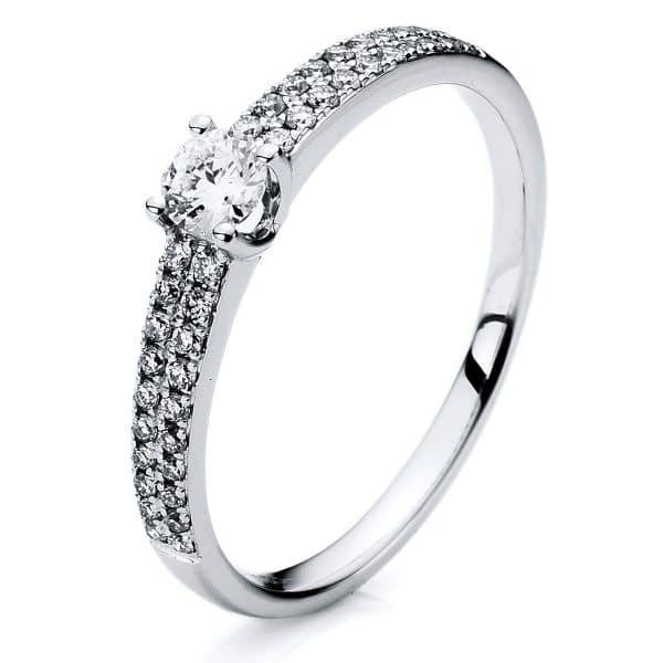 18 kt fehérarany szoliter oldalkövekkel 41 gyémánttal 1A315W858-1