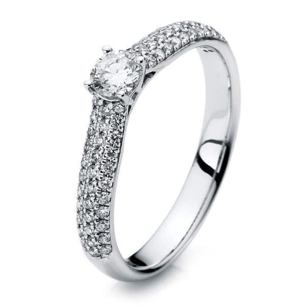 18 kt fehérarany szoliter oldalkövekkel 67 gyémánttal 1A418W854-2