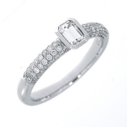 18 kt fehérarany szoliter oldalkövekkel 73 gyémánttal 1E333W854-1