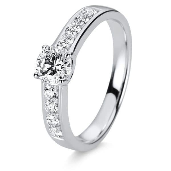 18 kt fehérarany szoliter oldalkövekkel 9 gyémánttal 1C875W853-1