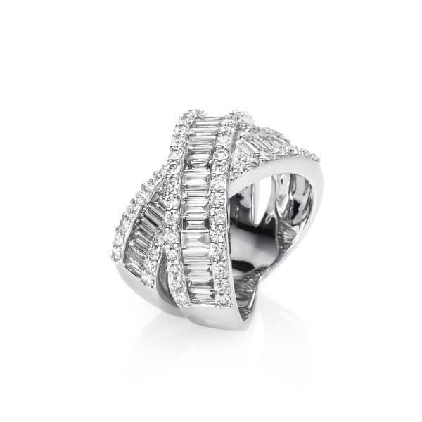 18 kt fehérarany több köves gyűrű 101 gyémánttal 1D146W853-3