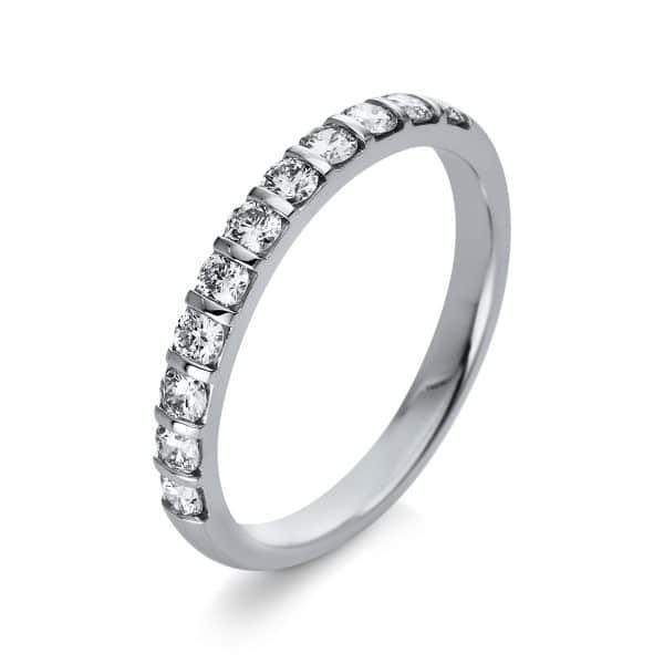 18 kt fehérarany több köves gyűrű 11 gyémánttal 1Q777W854-1