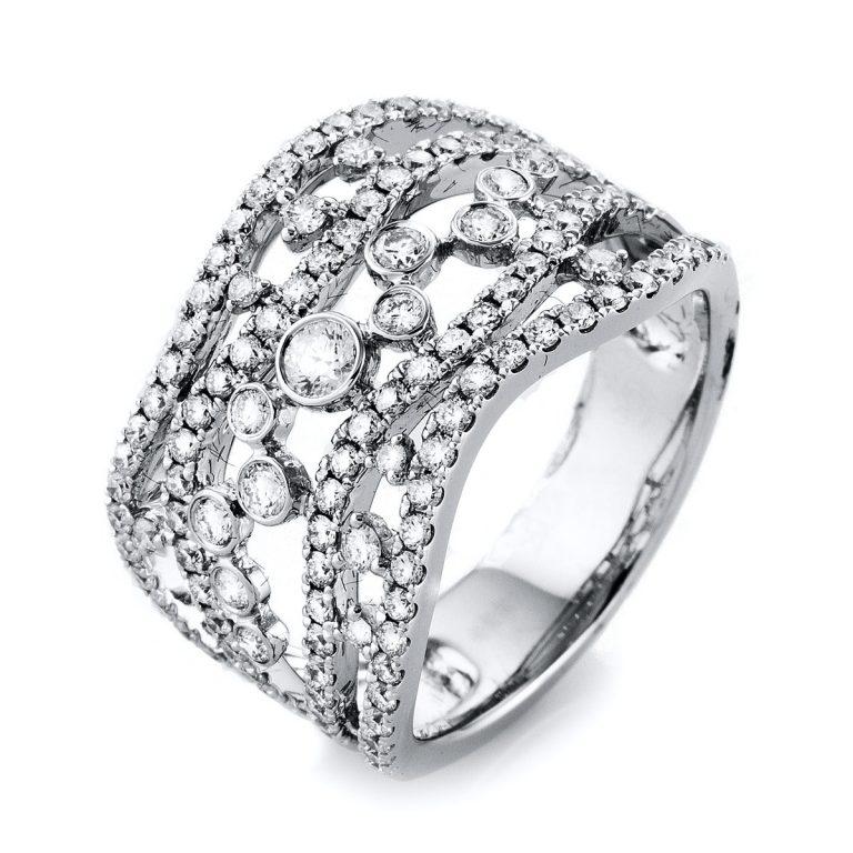 18 kt fehérarany több köves gyűrű 117 gyémánttal 1L278W853-1