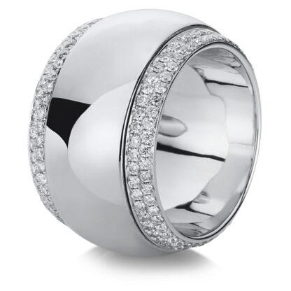 18 kt fehérarany több köves gyűrű 200 gyémánttal 1A718W856-5