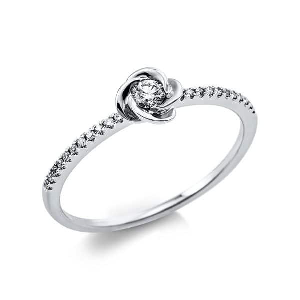 18 kt fehérarany több köves gyűrű 23 gyémánttal 1V420W854-1