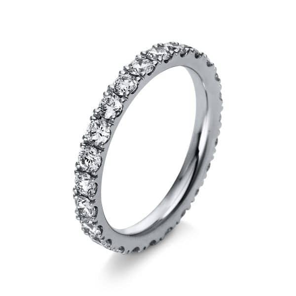 18 kt fehérarany több köves gyűrű 24 gyémánttal 1R910W854-3