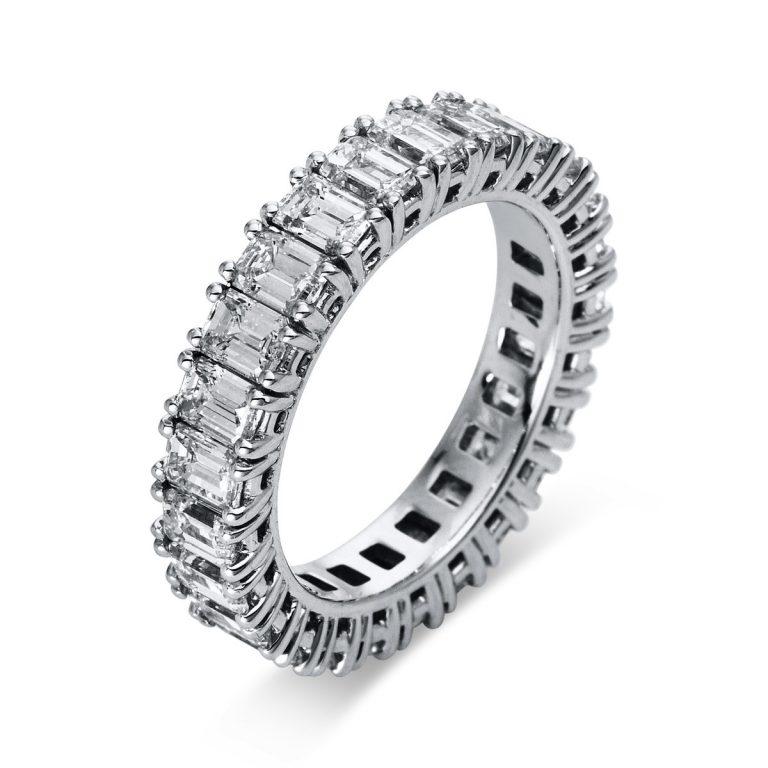 18 kt fehérarany több köves gyűrű 26 gyémánttal 1N921W855-1