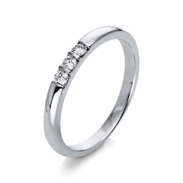 18 kt fehérarany több köves gyűrű 3 gyémánttal 1Q774W854-1