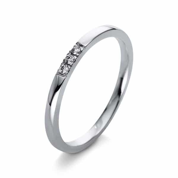 18 kt fehérarany több köves gyűrű 3 gyémánttal 1Q779W854-1