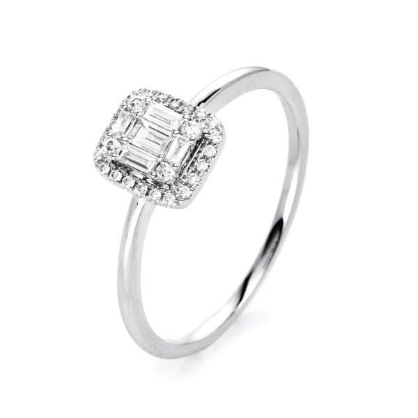 18 kt fehérarany több köves gyűrű 31 gyémánttal 1I994W852-1