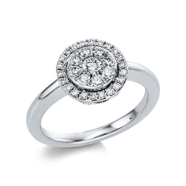 18 kt fehérarany több köves gyűrű 31 gyémánttal 1V669W854-1