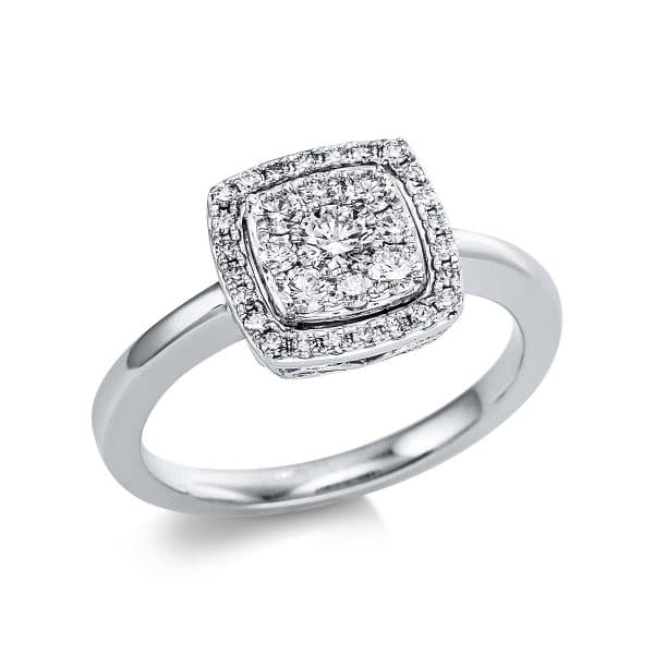 18 kt fehérarany több köves gyűrű 33 gyémánttal 1V666W854-1