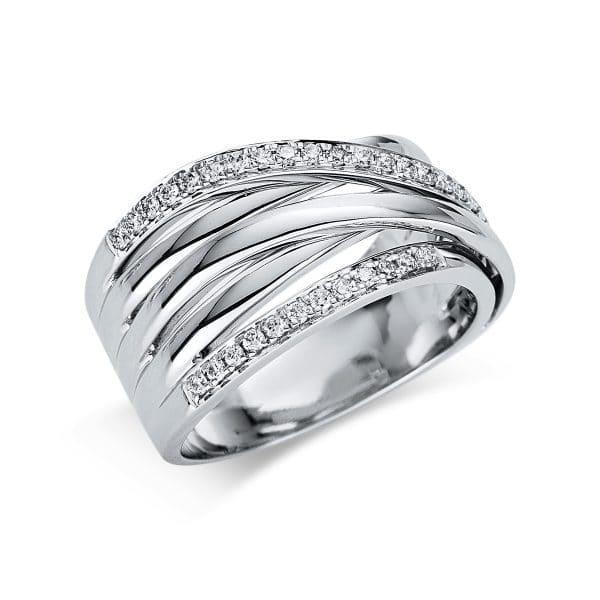 18 kt fehérarany több köves gyűrű 35 gyémánttal 1U455W854-1