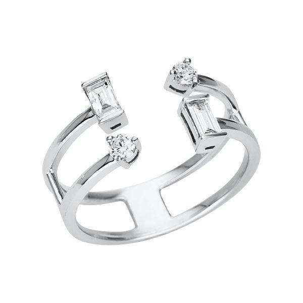 18 kt fehérarany több köves gyűrű 4 gyémánttal 1U347W854-1